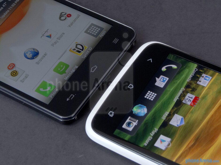 Android buttons - The LG Optimus G (left) and the HTC One X (right) - LG Optimus G vs HTC One X