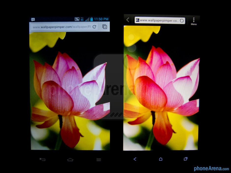 The LG Optimus G (left) and the HTC One X (right) - LG Optimus G vs HTC One X