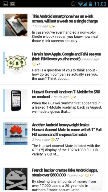 Browsing the web on the Huawei Ascend D quad XL - Huawei Ascend D quad XL Review