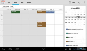 The native mail client and calendar - Huawei MediaPad 7 Lite Review
