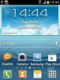 Tha Samsung Galaxy Music runs Android Ice Cream Sandwich - Samsung Galaxy Music Review