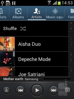 Despite its Music designation, the phone doesn't offer anything extra in the already pretty rich TouchWiz tunes player - Samsung Galaxy Music Review