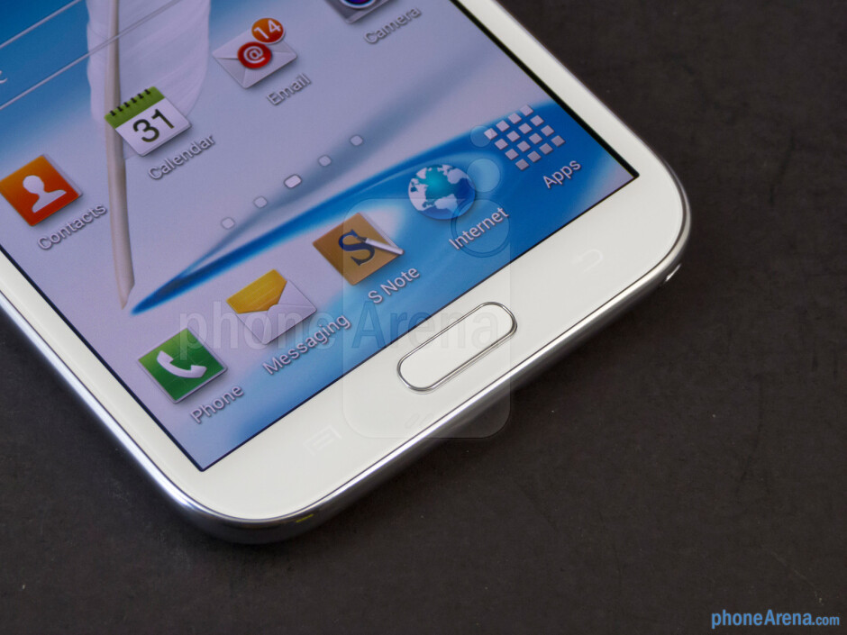 Android buttons - Samsung Galaxy Note II Review (AT&T, Verizon, T-Mobile, Sprint)