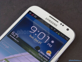 Front camera - Samsung Galaxy Note II Review (AT&T, Verizon, T-Mobile, Sprint)