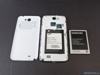 Battery compartment - Samsung Galaxy Note II Review (AT&T, Verizon, T-Mobile, Sprint)