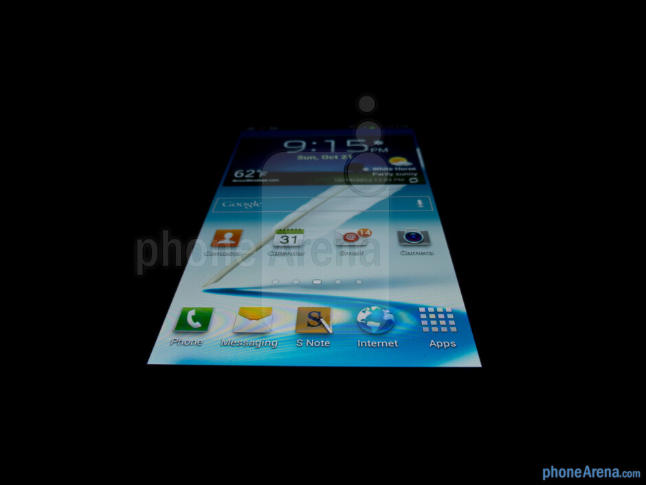 Viewing angles - Color production - Samsung Galaxy Note II Review (AT&T, Verizon, T-Mobile, Sprint)