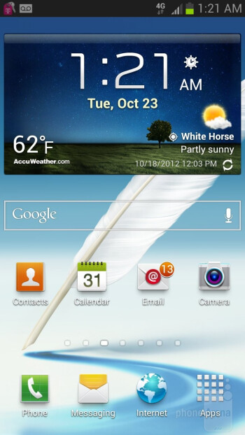 The Samsung Galaxy Note II is blessed with Android 4.1 Jelly Bean out of the box - HTC DROID DNA vs Samsung Galaxy Note II