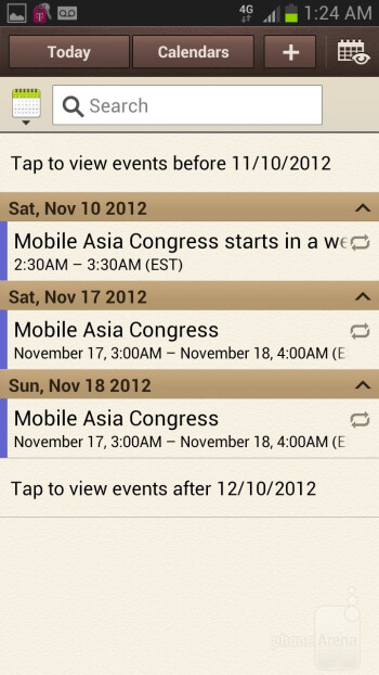Core organizer apps of the Samsung Galaxy Note II - HTC DROID DNA vs Samsung Galaxy Note II