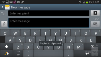 On-screen keyboards of the Samsung Galaxy Note II - Samsung Galaxy Note II Review (AT&T, Verizon, T-Mobile, Sprint)