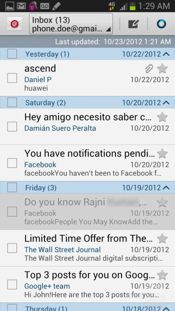 Email - Samsung Galaxy Note II Review (AT&T, Verizon, T-Mobile, Sprint)