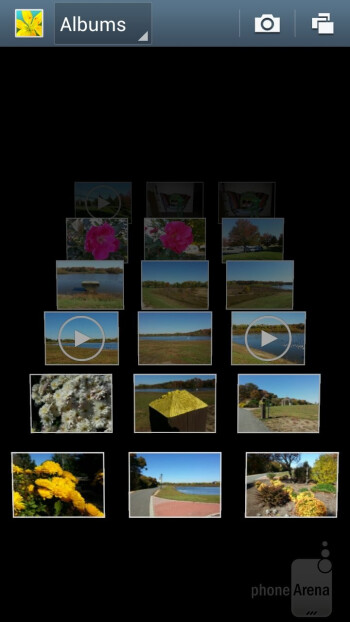 There is a choice of 3D views in the Gallery app - Samsung Galaxy Note II Review (AT&T, Verizon, T-Mobile, Sprint)