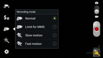 Camera interface - Samsung Galaxy Note II Review (AT&T, Verizon, T-Mobile, Sprint)