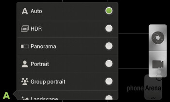 The camera interface of the HTC Desire X - HTC Desire X Review