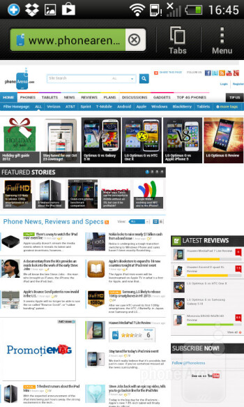 Browsing the web on the HTC Desire X - HTC Desire X Review