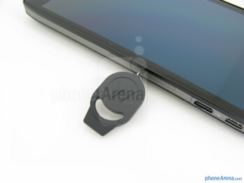 The push-pin - The sides of the Motorola DROID RAZR MAXX HD - Motorola DROID RAZR MAXX HD Review