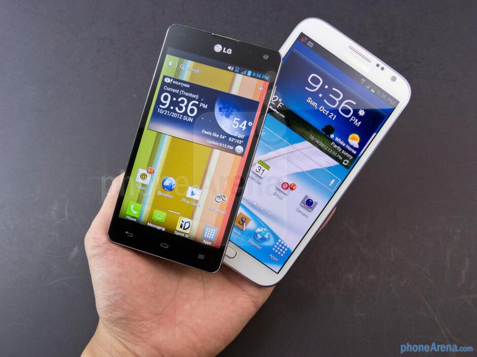 Samsung Galaxy Note II vs LG Optimus G