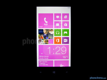Viewing angles of the HTC Windows Phone 8X - HTC Windows Phone 8X Review