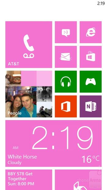 The Windows Phone 8 interface - HTC Windows Phone 8X vs Samsung Galaxy S III