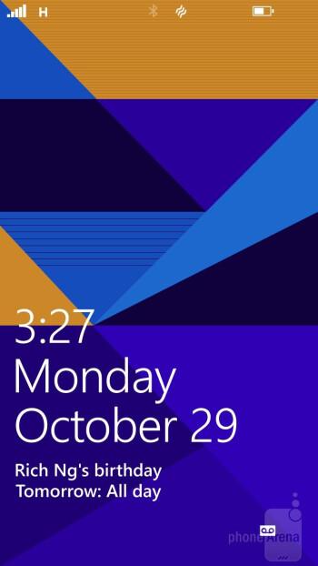 Lock screen - HTC Windows Phone 8X Review