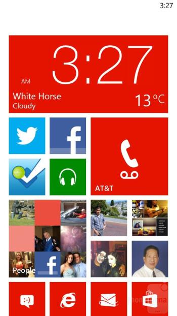 The Windows Phone 8 interface - HTC Windows Phone 8X Review