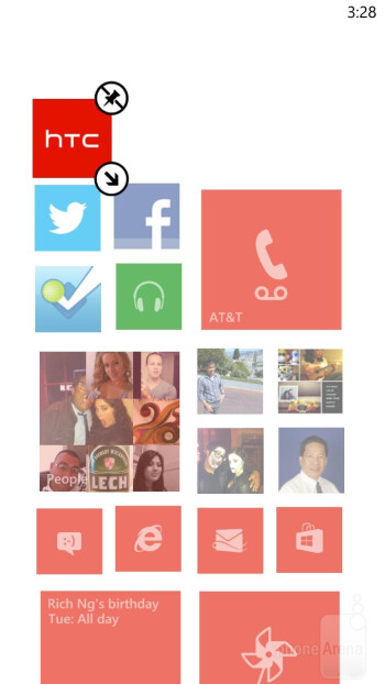 The Windows Phone 8 interface - HTC Windows Phone 8X vs Apple iPhone 5