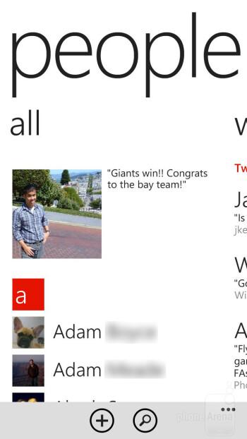 The People Hub of HTC Windows Phone 8X - HTC Windows Phone 8X Review
