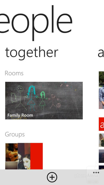 The People Hub of HTC Windows Phone 8X - HTC Windows Phone 8X Review