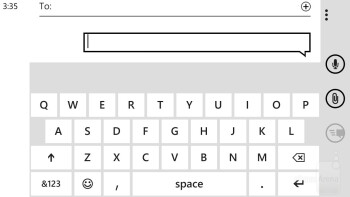 On-screen keyboard of the HTC Windows Phone 8X - HTC Windows Phone 8X vs Apple iPhone 5