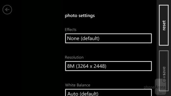 Camera interface - HTC Windows Phone 8X Review