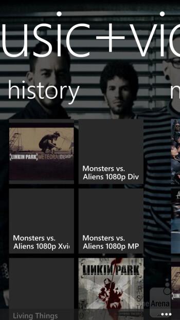 Music+Videos Hub on the HTC Windows Phone 8X - HTC Windows Phone 8X vs Samsung Galaxy S III