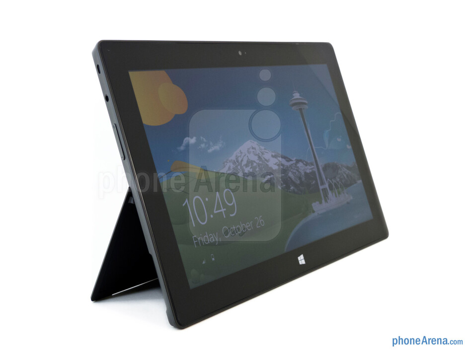 The Microsoft Surface RT incorporates a very useful kickstand - Microsoft Surface RT Review