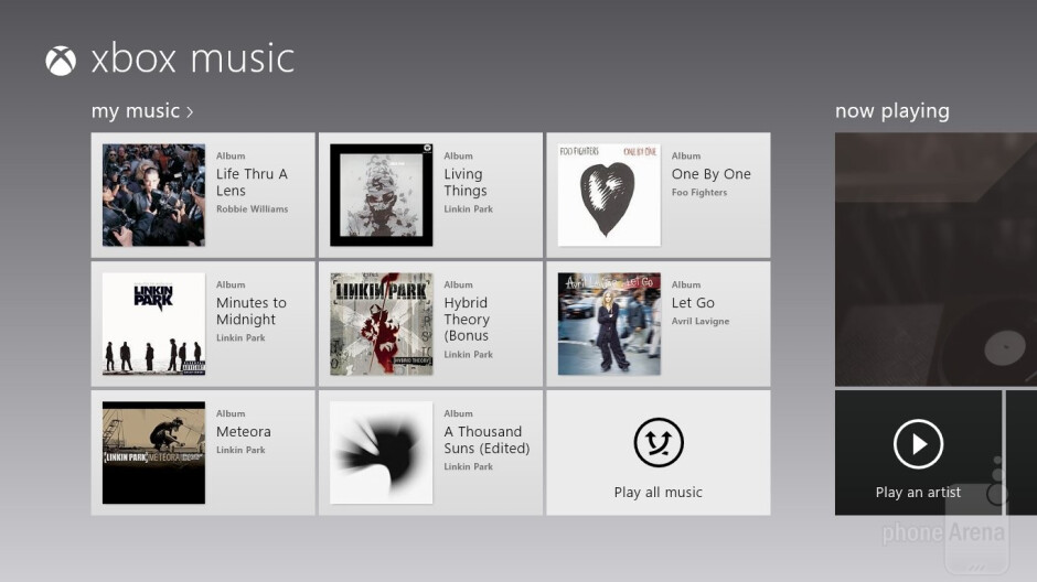 The Microsoft Surface RT integrates XBOX MUSIC with its music player - Apple iPad 4 vs Microsoft Surface RT