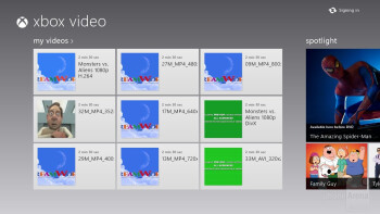 Video player of the Microsoft Surface RT - Google Nexus 10 vs Microsoft Surface RT