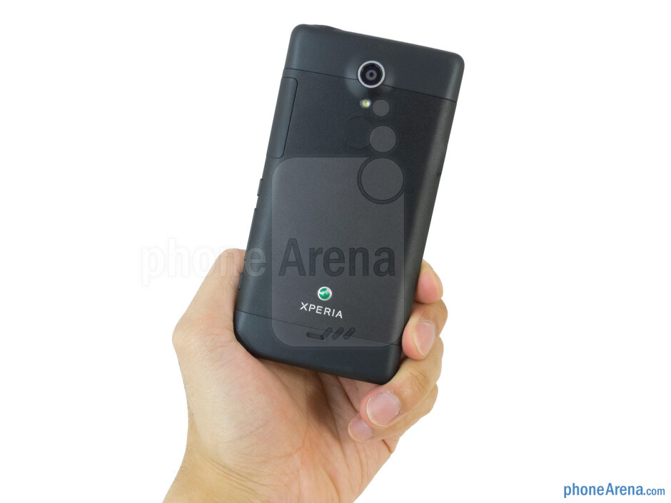 The Sony Xperia TL is able to stand out for its arched back casing - Sony Xperia TL Review