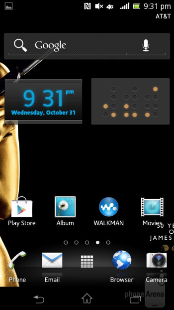 The interface of the Sony Xperia TL - Sony Xperia TL Review