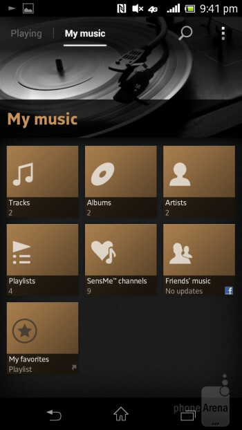 The Walkman branded music player of the Sony Xperia TL is attractive - Sony Xperia TL Review