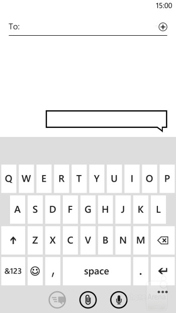 Virtual QWERTY keyboard of the platform - Samsung ATIV S vs HTC Windows Phone 8X