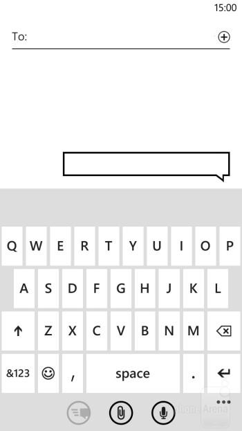 Virtual QWERTY keyboard of the platform - Samsung ATIV S vs HTC Windows Phone 8X
