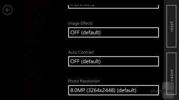 The camera interface of Windows Phone 8 - Samsung ATIV S vs HTC Windows Phone 8X