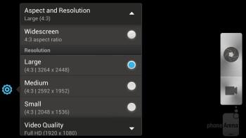 HTC One X+ camera interface - HTC One X+ vs iPhone 5