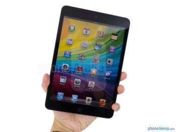 We're able to grasp the Apple iPad mini with a single hand - Apple iPad mini Review