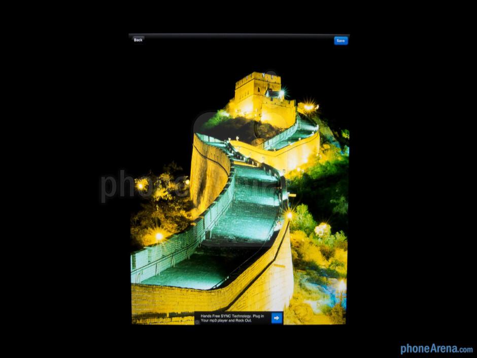 Color production of the Apple iPad mini - Apple iPad mini Review