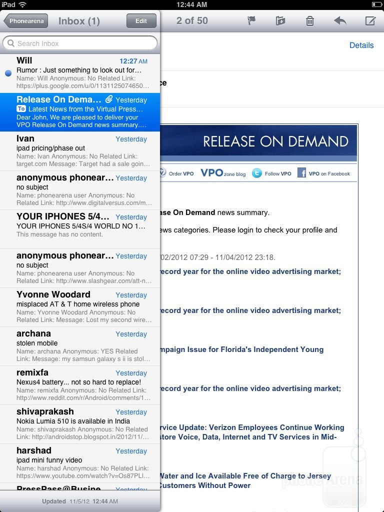 email t online ipad