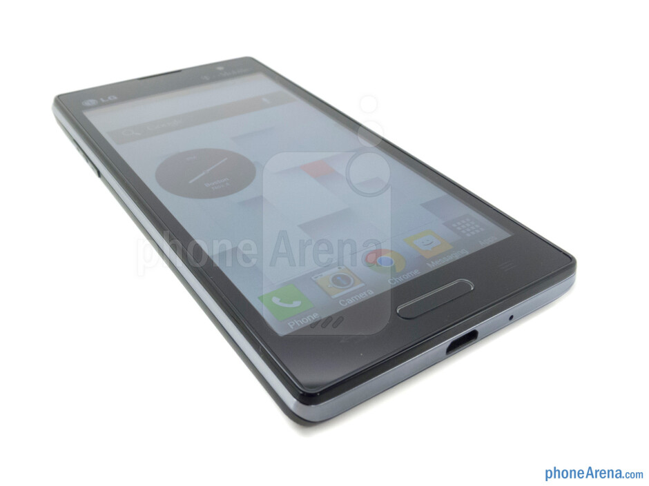 The physical home button - LG Optimus L9 Review