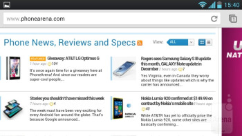 Browsing the web on the LG Optimus L9 - LG Optimus L9 Review