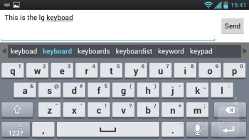 The on-screen keyboard - LG Optimus L9 Review