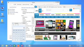 The desktop interface - Samsung ATIV Tab Review