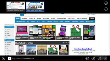 Internet Explorer 10 is what you get with the Samsung ATIV Tab - Samsung ATIV Tab Review