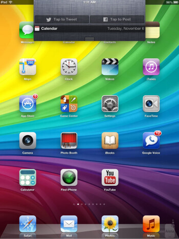 This latest iPad is running iOS 6 - Apple iPad 4 Review