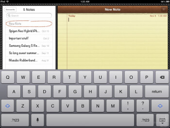 The keyboard of the Apple iPad 4 - Apple iPad 4 Review